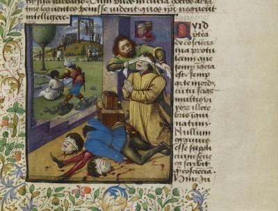 טבח משפחה בצרפת, ימי הביניים, כתב יד