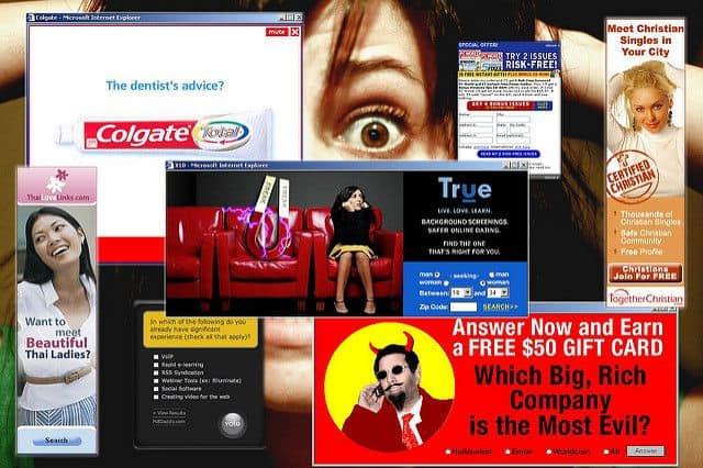 מודעות מקוונות בשעת גלישה באינטרנט
