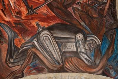 חוסה קלמנטה אורוסקו, מכון קבניאס, ציור קיר