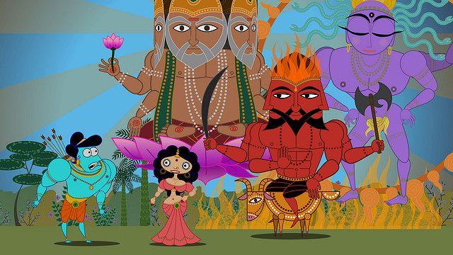ראמה וסיטא עם האלים