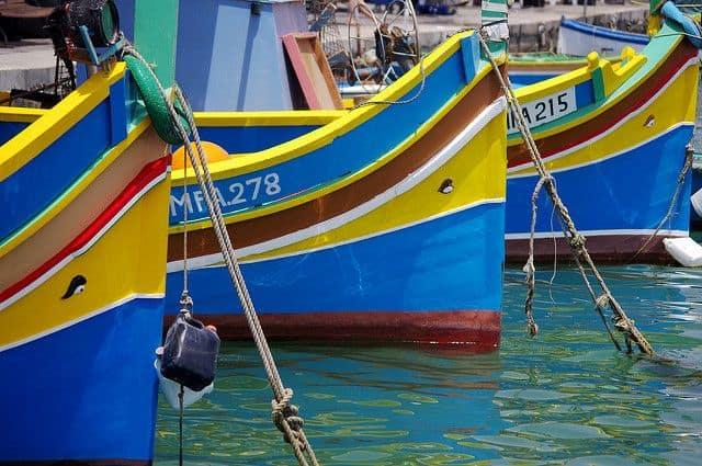סירות דייגים ים תיכוניות, מלטה.