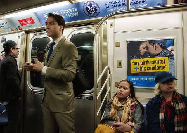 רכבת תחתית, מנהטן, איש עסקים, עבודה