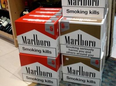 סיגריות, אזהרה בריאותית, מרלבורו