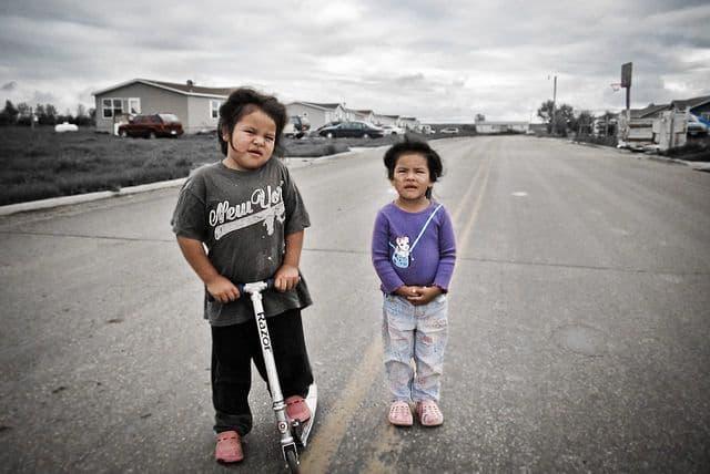 ילדים, ארצות הברית, דרום דקוטה, שמורה אינדיאנית