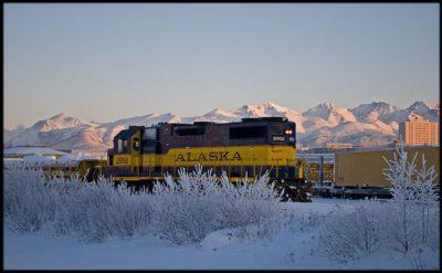 אנקורג', אלסקה, רכבת, שלג