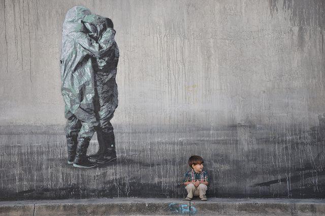 תקווה, ילד קטן, זוג מחובק