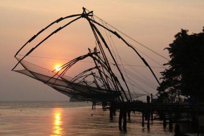 רשתות דיג סיניות, קוצ'י, קרלה, הודו