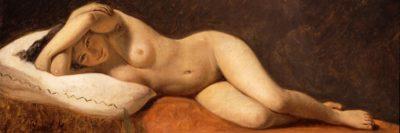 קונסטנטין הנסן, מודל שוכבת, עירום