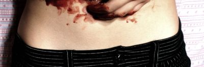 פךג גוף עליון נשי, סכין, דם, דקירה