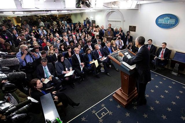 מסיבת עיתונאים, הבית הלבן, אובמה