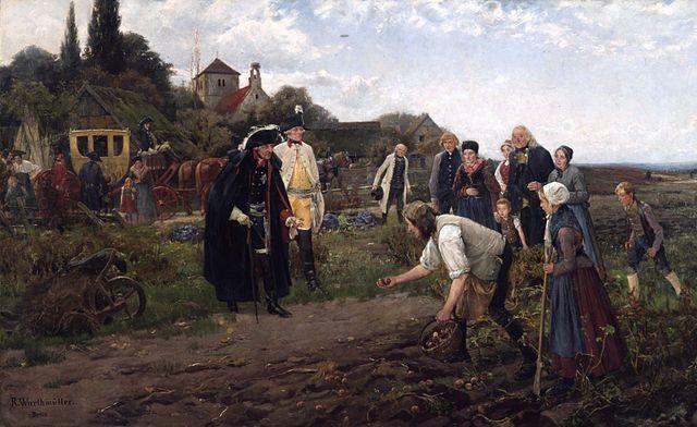 פרידריך הגדול, תפוחי אדמה, רוברט ורטמילר