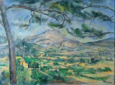פול סזאן, הר סן ויקטואר וענף עץ אורן