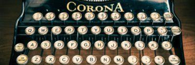 מכונת כתיבה, קורונה