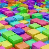 קוביות צבעוניות