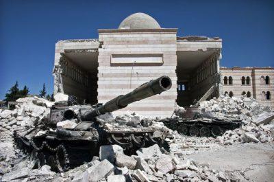 עזאז, סוריה, מלחמת האזרחים, הרס