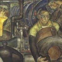 """ניו דיל, ציור קיר, ספריית הקונגרס, פועלים, ארה""""ב"""