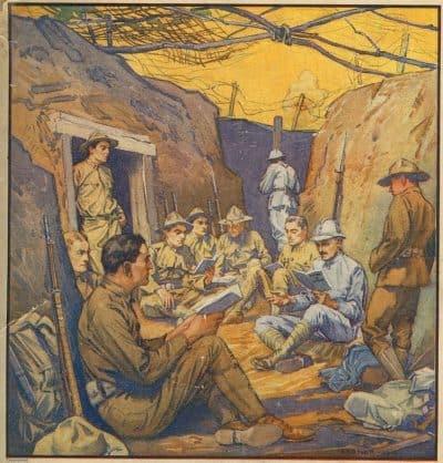 מלחמת העולם הראשונה, תעלות, צרפתית