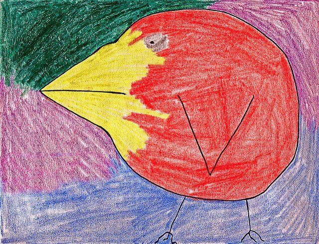 ציפור, ציור ילדים