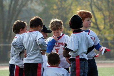 פוטבול, ילדים, huddle