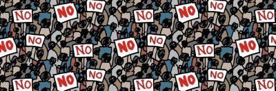 מחאה, המון, הפגנה, סירוב