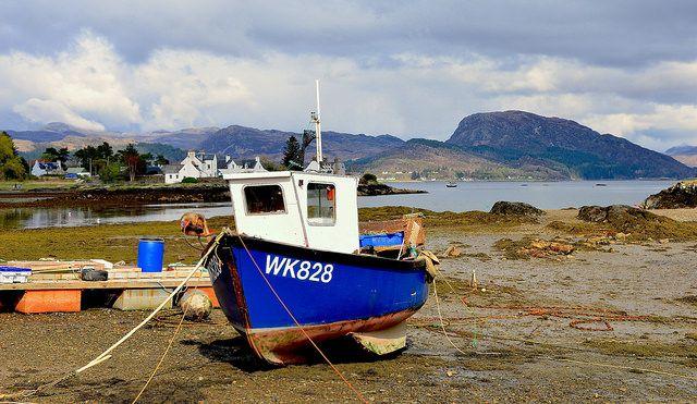 סירה, חוף, גאות, שפל
