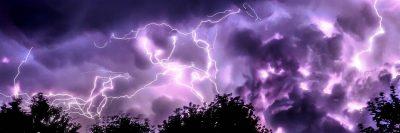 סערה, ברקים בשמיים