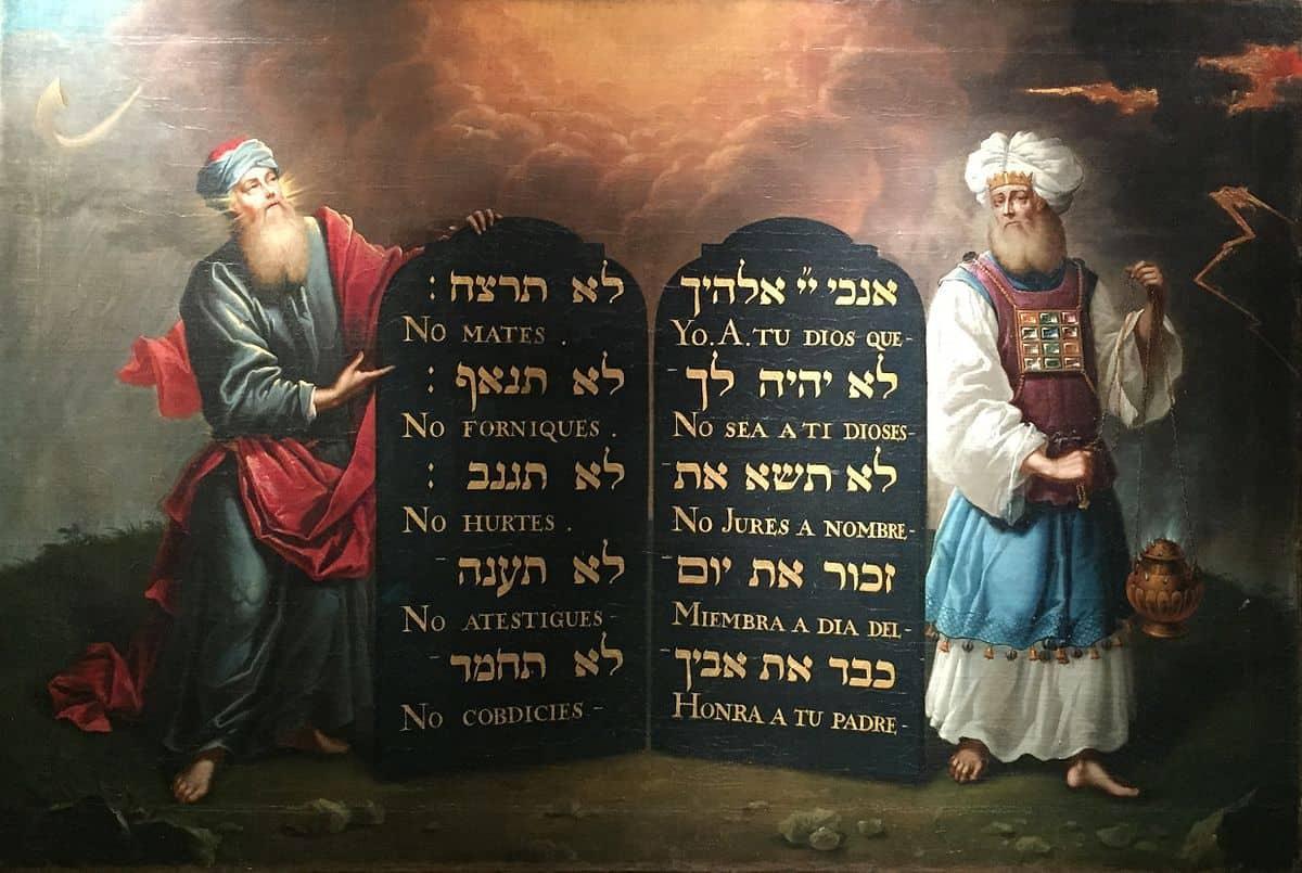 משה ואהרון, אהרון דה צ'אווס, בית הכנסת הפורטוגזי והספרדי, לונדון