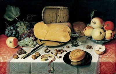 פלוריס ואן דייק, טבע דומם, ארוחת בוקר, גבינה, הולנדית