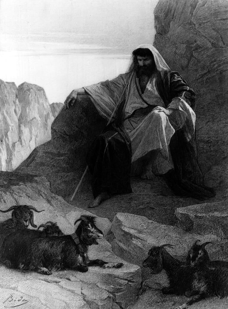 משה רבנו, צאן, אלכסנדר בידה