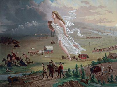 American Progress, ג'ון גאסט, קידמה, ארצות הברית