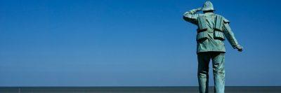 צופה על החוף, חיפוש, מחפשים, ים