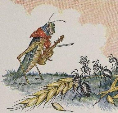 הצרצר והנמלה, מילו וינטר, משלי איזופוס