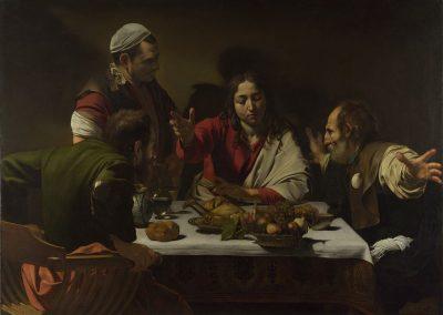 הארוחה באמאוס, קרוואג'ו, 1601