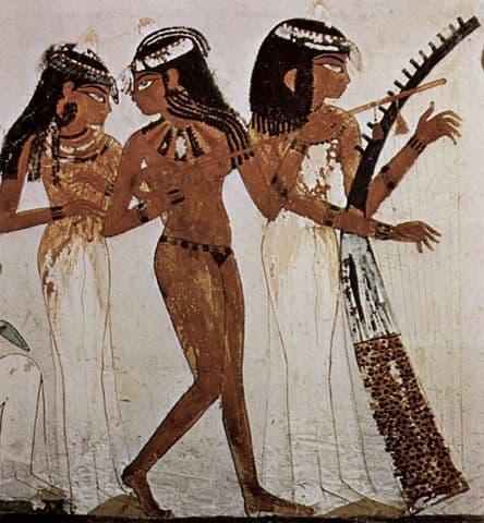 מצרים העתיקה, נשים, נגנות, רקדניות