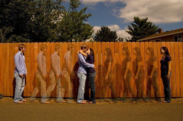 זוג, חיבוק, גדר, ארוסין