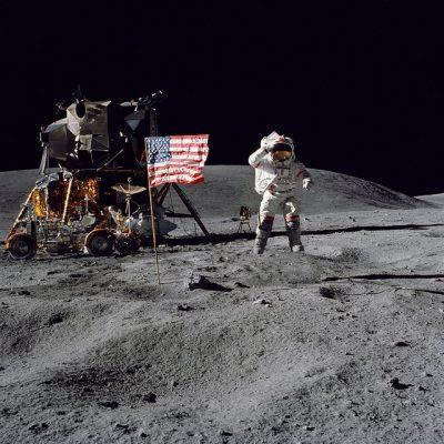 דגל אמריקני, ירח, אפולו