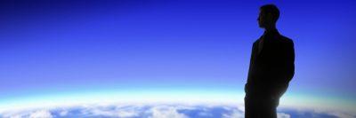 כדור הארץ, אופק, חלל