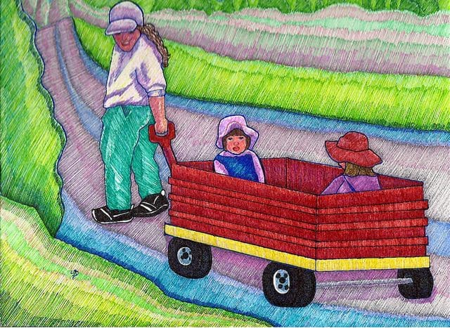 עגלה אדומה, ילדים, קנדה