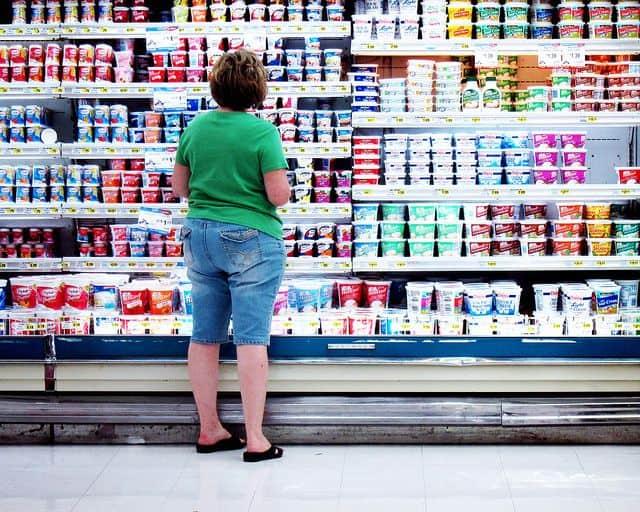 סופרמרקט, מוצרי חלב