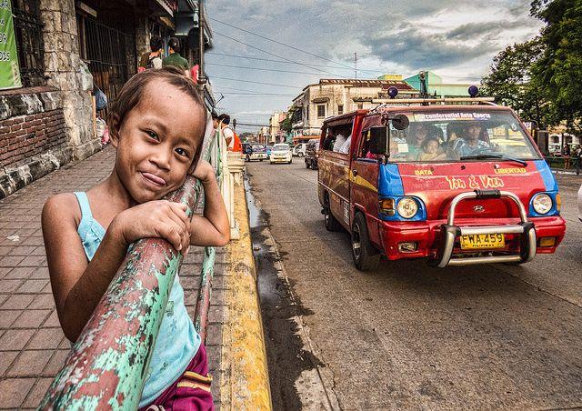 פיליפינים, ילדה, רחוב