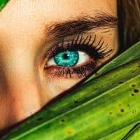 עיניים, בחורה יפה, עלים