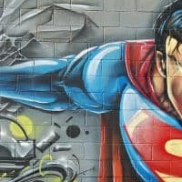 סופרמן, גרפיטי, גיבור-על