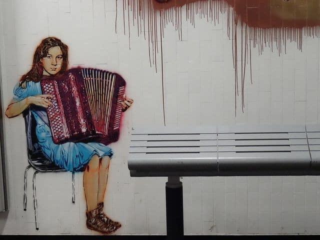 אקורדיון, תחנת רכבת