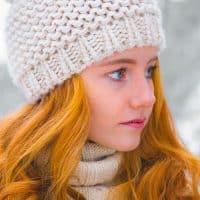 קור, שלג, נערה, ג'ינג'ית