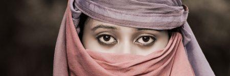 עיניים, חיג'אב, כיסוי ראש, אישה