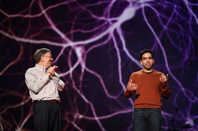 סלמאן ח'אן, ביל גייטס, TED, חינוך מקוון