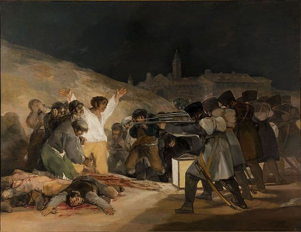 גויא, שלושה במאי, הוצאה להורג