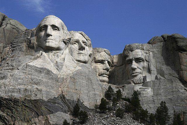 הר רשמור, וושינגטון, ג'פרסון, רוזוולט, לינקולן