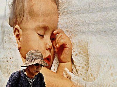 אישה זקנה, תינוק, טוקיו