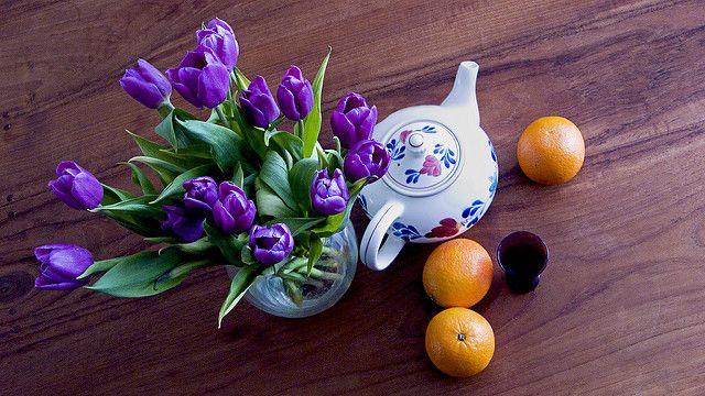 אמסטרדם, קנקן תה, צבעונים, מטבח